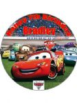 7.5 Personalised Disney CARS Icing or Wafer Cake Top Topper New 2